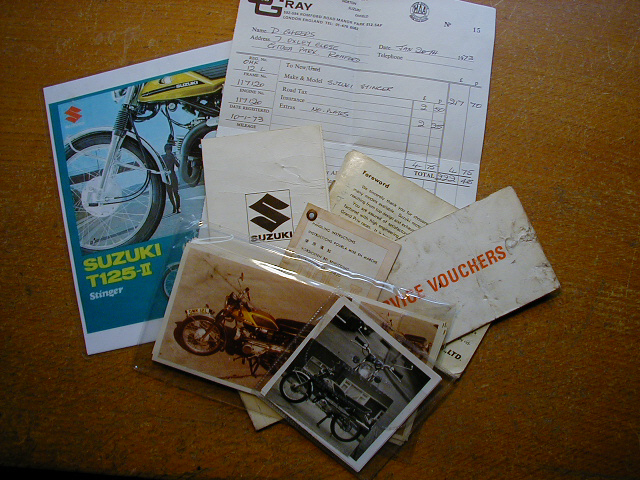 Stinger -  fantastic history - original sales invoice, handbooks and photos!