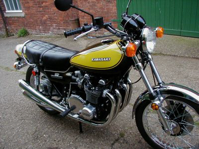 1973 Kawasaki Z1 in Candy Yellow