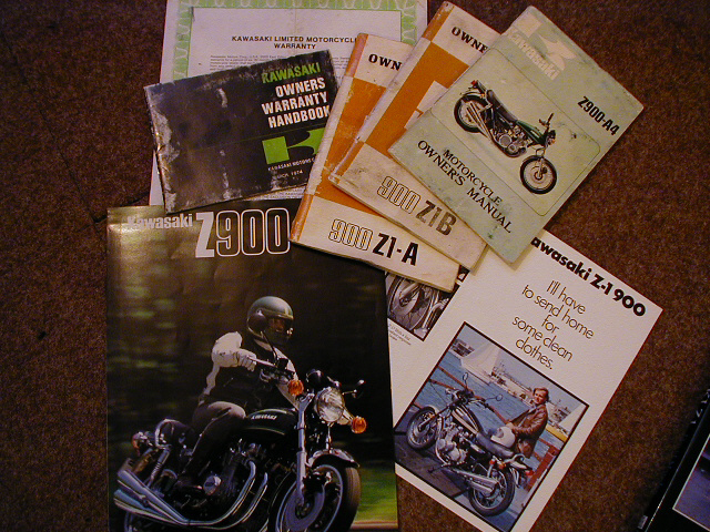 Original Handbooks and publicity material for Z1s